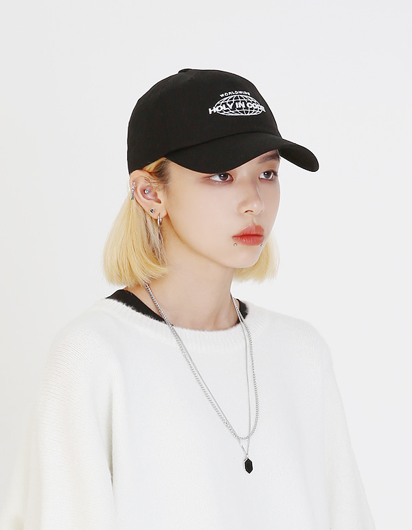 No.0040 HIC made EARTH white logo BALL CAP