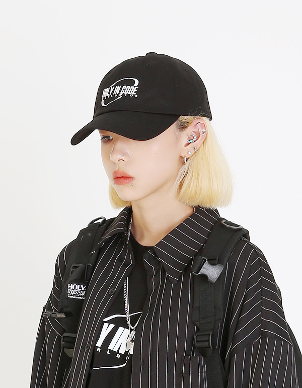 No.0038 HIC made ellipse white logo BALL CAP